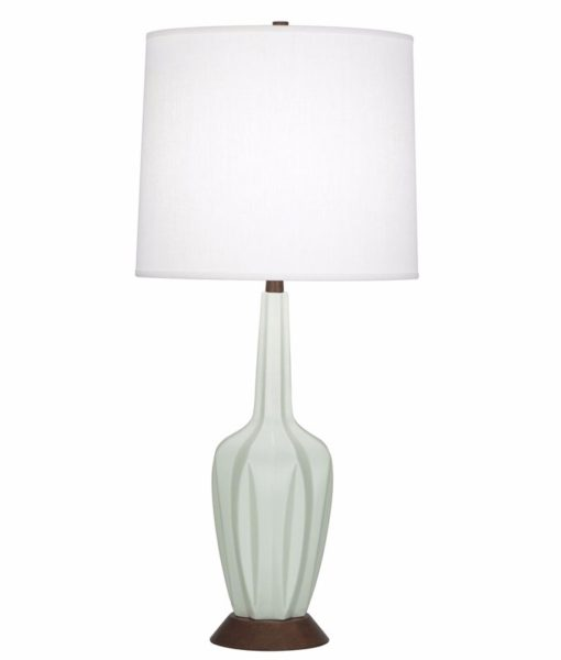 Robert Abbey Cecilia celadon table lamp