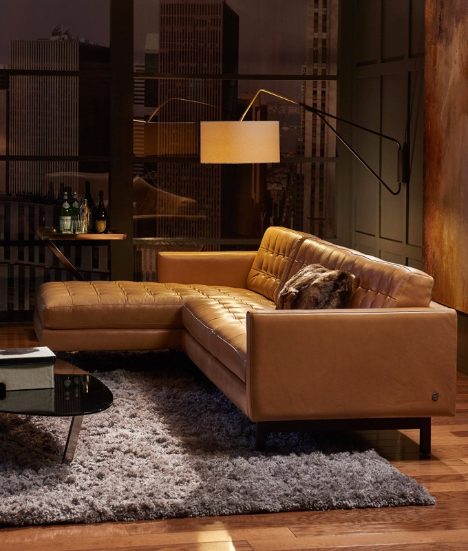 American Leather Parker leather sofa