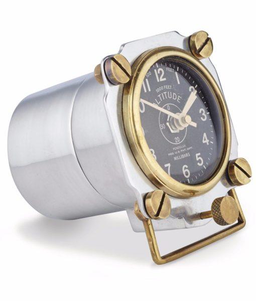 Pendulux-Altimeter-Aluminum-Side-Angle-Clock