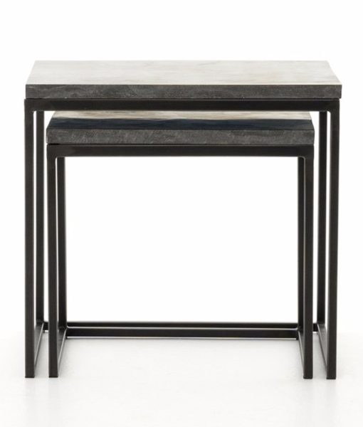 Four Hands Harlow nesting tables fully nested