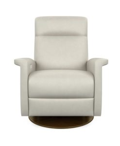 American Leather Fallon Recliner Bison White
