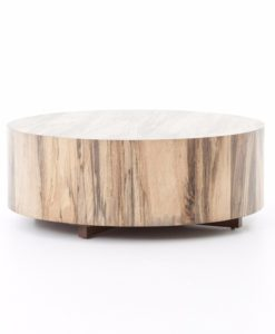 Four Hands Hudson round coffee table