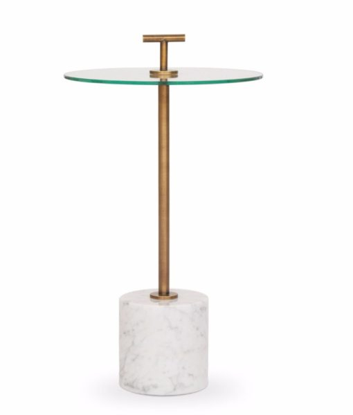 Mitchell Gold + Bob Williams Handler side table white marble