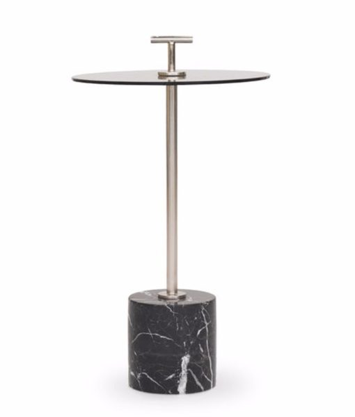 Mitchell Gold + Bob Williams Handler side table black marble