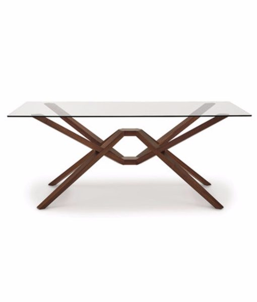 Copeland Exeter dining table with glass top