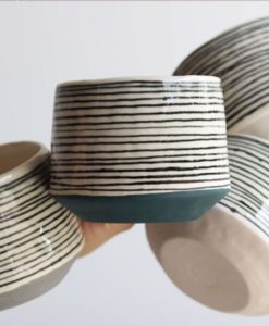 Elizabeth Benotti Striped Mugs