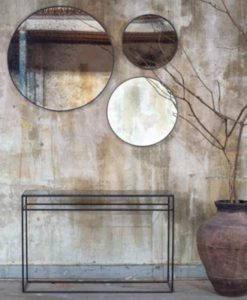 Notre Monde Heavy aged mirror console