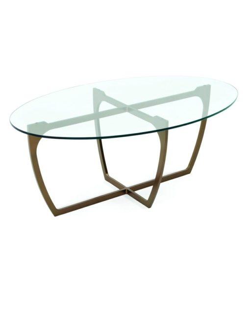 Charleston Forge Fontana cocktail table glass top