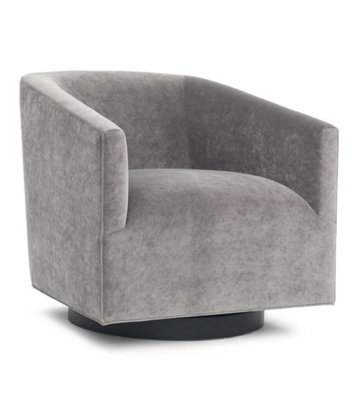 Mitchell Gold + Bob Williams Cooper Studio swivel chair indie graphite