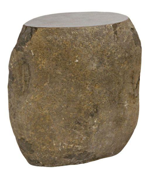 Noir Boulder Riverstone stool