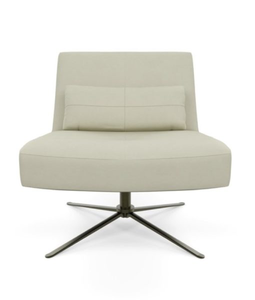 American Leather Hugo swivel chair