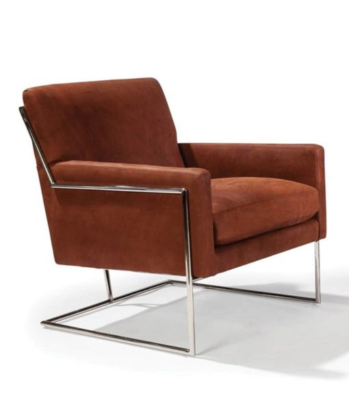 Thayer Coggin Hi Wire leather chair