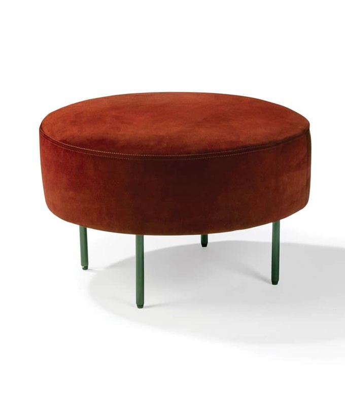 Astonishing Thayer Coggin Slice Small Round Ottoman Camellatalisay Diy Chair Ideas Camellatalisaycom