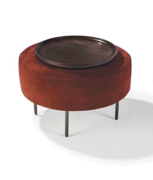 Thayer Coggin Slice small round ottoman - no tray