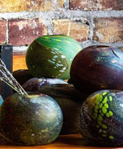 Gathered Glassblowing Studio Earth orbs