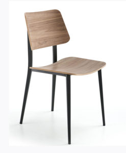Midj Joe walnut dining chair