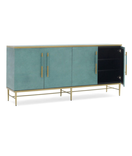 Mitchell Gold + Bob Williams Celine media console interior