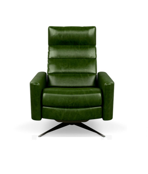 American Leather Cirrus chair Mont Blanc Evergreen
