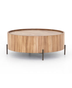 Four Hands Lunas drum coffee table