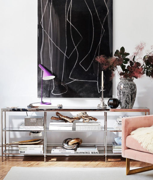 Mitchell Gold + Bob Williams Vienna low bookcase lifestyle shot