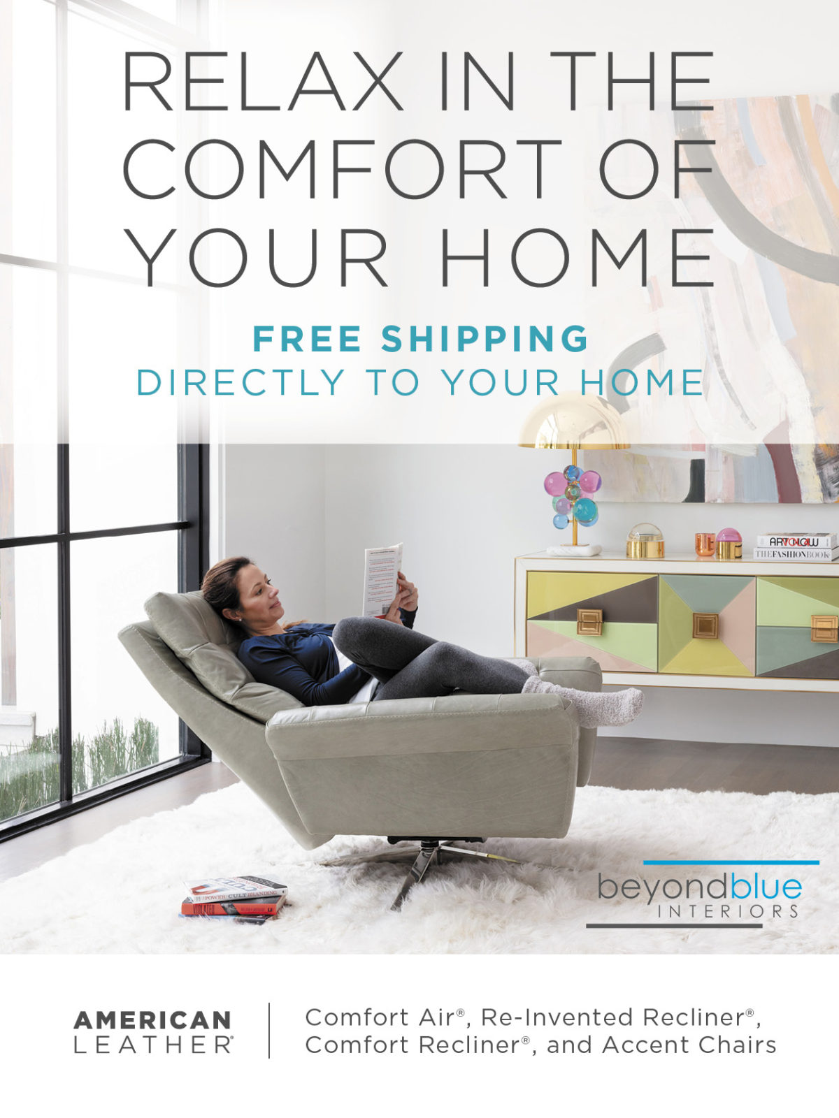 American Leather Recliners to your home free