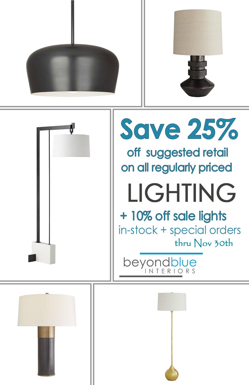 BeyondBlue Fall Lighting Sale 2020