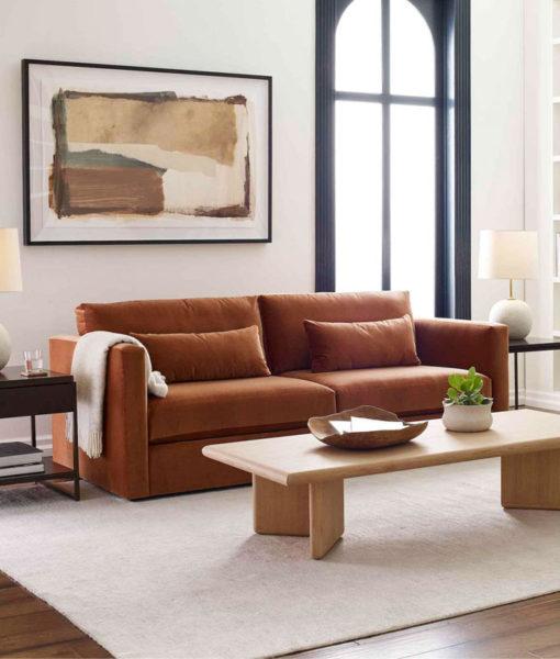 Mitchell Gold + Bob Williams Haywood sofa room setting