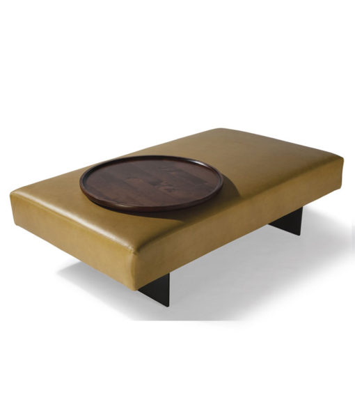 Thayer Coggin Blade ottoman with optional tray