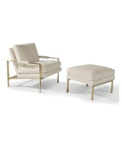 Thayer Coggin Design Classic Chair + Ottoman