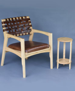 J Koger Furniture Ambrose Whiskey Sipping chair + side table