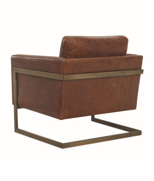 Lee Industries L1858-01 leather chair back view