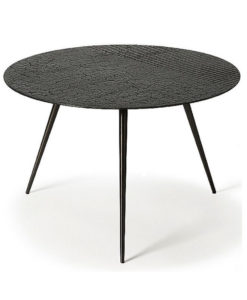 Luna small coffee table - lava linear whiskey