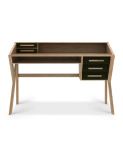 Ethnicraft Origami desk with black drawers